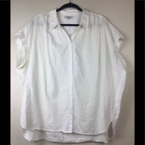 Madewell button down shirt blouse plus size XXL